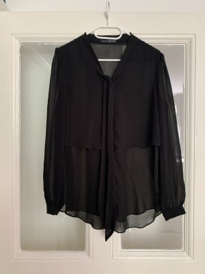 Atmosphere Blusa collo a cravatta nero