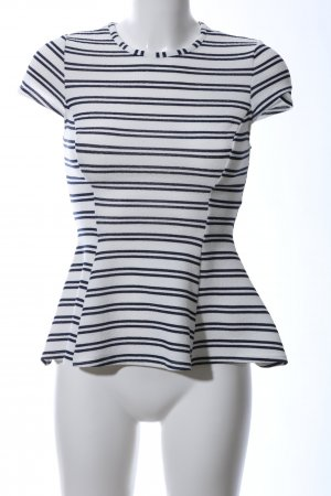 Atmosphere Blouse Top white striped pattern casual look