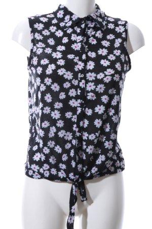Atmosphere Blusa nero-bianco motivo floreale stile casual