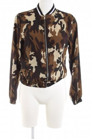 Atmosphere Bomber Jacket camouflage pattern casual look