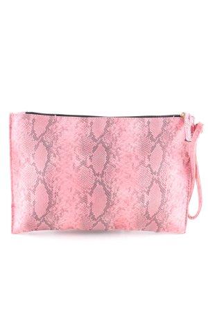 Atmosphere Pochette rose-gris clair motif animal style décontracté