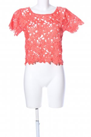 Atmosphere Camicia cropped rosso stile casual