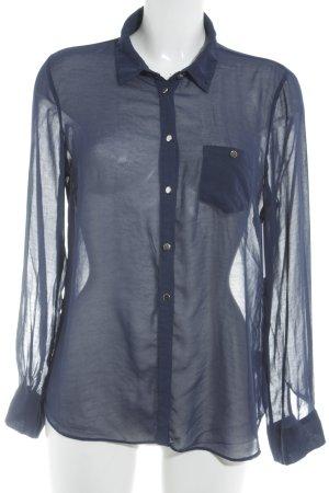 Atmosphere Hemd-Bluse blau klassischer Stil