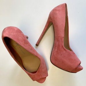 Atmosphere Plateauzool pumps roze-zalm Imitatie leer