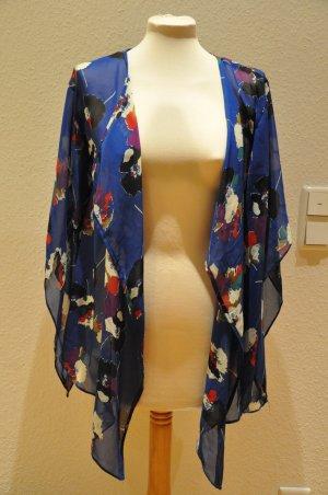 ATMOSPHERE Kimono Jacke, seidig, geblümt, blogger, hippie, indie style