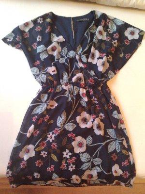Atmosphere Kleid, dunkelblau mit Blumenmuster