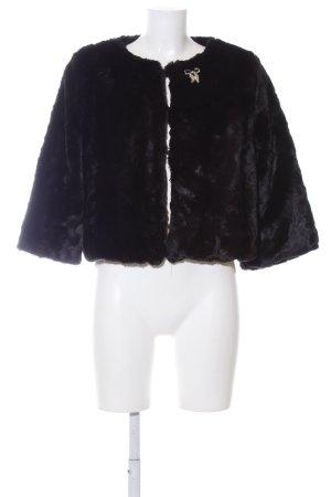 Atmosphere Fake Fur Jacket black casual look