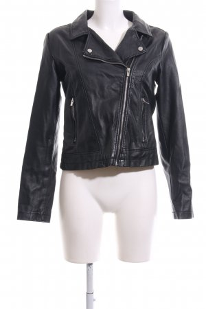 Atmosphere Faux Leather Jacket black casual look