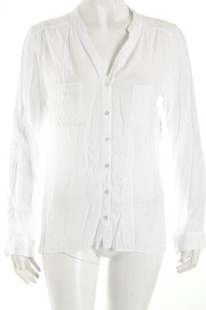 Atmosphere Langarm-Bluse weiß