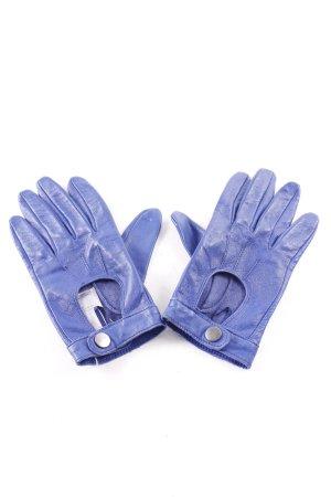 Atmosphere Gants en cuir bleu style simple