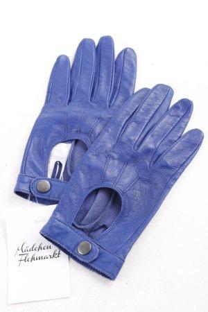 Atmosphere Lederhandschuhe blau schlichter Stil