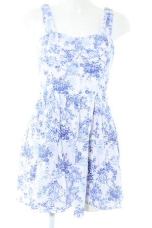 Atmosphere Minikleid blau-weiß Allover-Druck Casual-Look