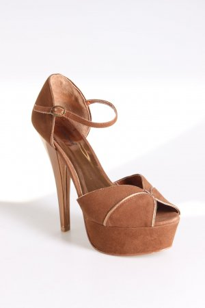 Atmosphere Peeptoe-Pumps braun