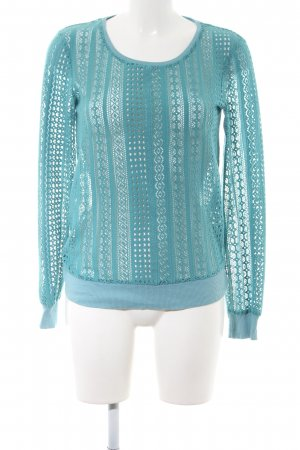 Atmosphere Kraagloze sweater turkoois elegant