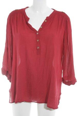 Atmosphere Slip-over blouse donkerrood klassieke stijl
