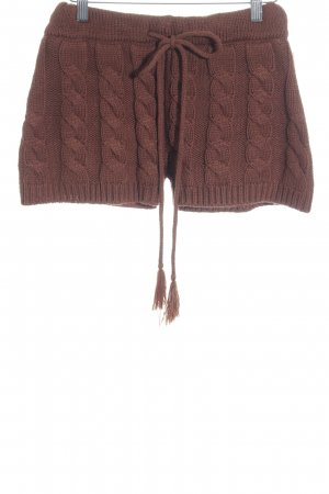 Atmosphere Shorts cognac Lochstrickmuster Casual-Look