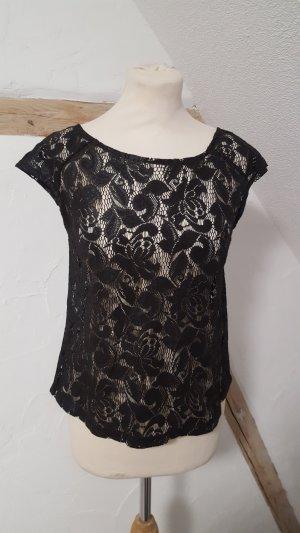 Atmosphere Crochet Shirt black
