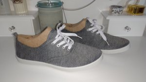 Atmosphere Zapatos brogue blanco-gris claro fibra textil