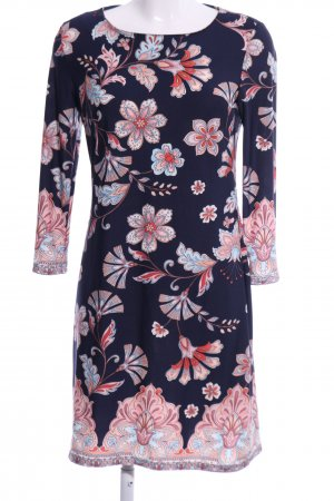 Atmosphere Stretch Dress blue-pink flower pattern casual look