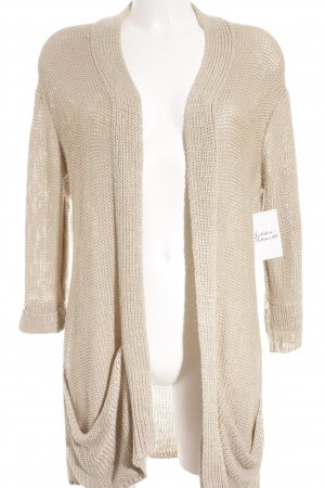 Atmosphere Strick Cardigan creme Lochstrickmuster Casual-Look