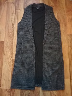 Atmosphere Long Knitted Vest black-white mixture fibre
