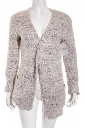 Atmosphere Strickjacke creme-grau meliert Casual-Look