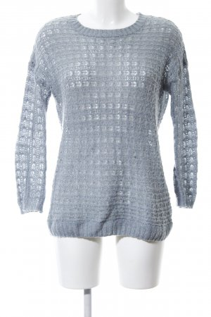 Atmosphere Knitted Sweater blue weave pattern casual look