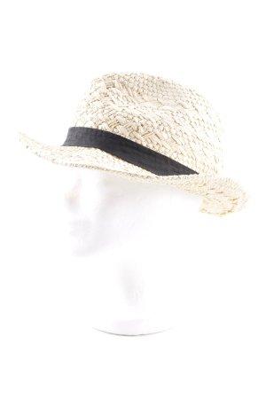Atmosphere Cappello di paglia sabbia-nero stile casual