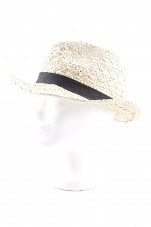 Atmosphere Straw Hat sand brown-black casual look