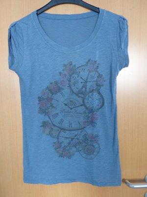 Atmosphere T-Shirt Blumen Taschenuhr
