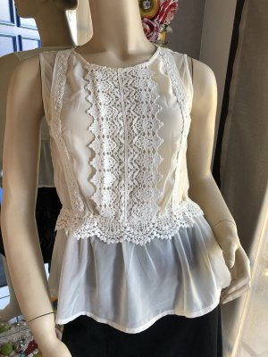 Atmosphere Top peplum blanco puro