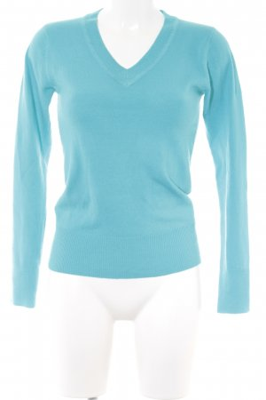 Atmosphere V-Ausschnitt-Pullover hellblau Casual-Look