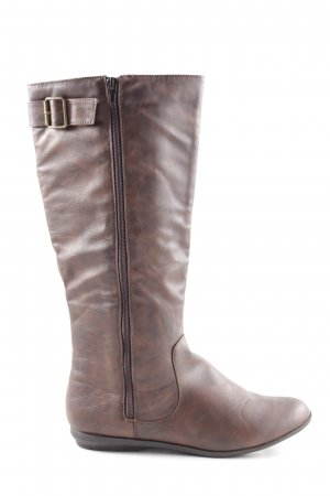 Atmosphere Western Boots brown allover print casual look