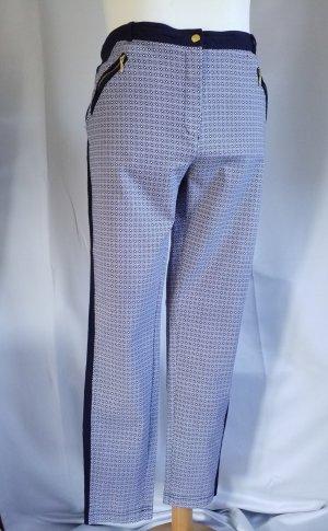 Atmosphere Pantalone elasticizzato bianco-blu scuro