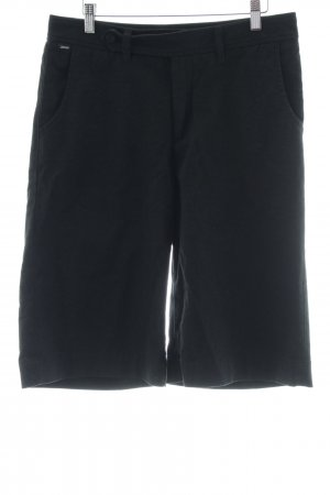 Ato-Berlin High-Waist-Shorts schwarz Casual-Look