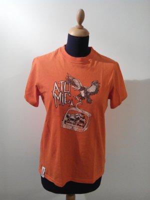 atomic comic manga streetart orange t-shirt shirt cotton medium