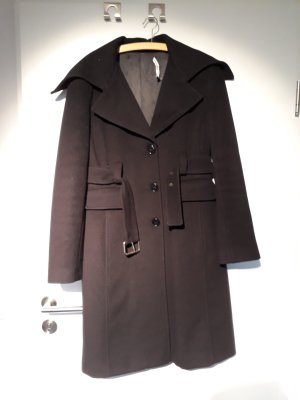 Atos Lombardini Wool Coat black wool