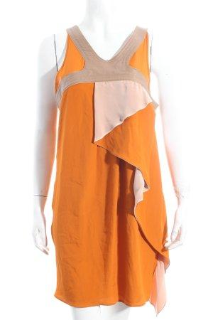 Atos Lombardini A-lijn jurk donker oranje-beige extravagante stijl