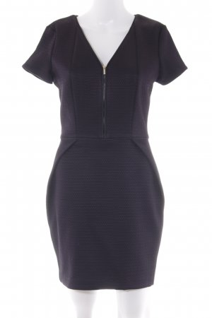 Atos Lombardini Pencil Dress dark violet abstract pattern business style