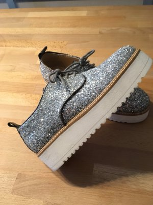 Atos Lombardini Wedge sneaker wit-zilver