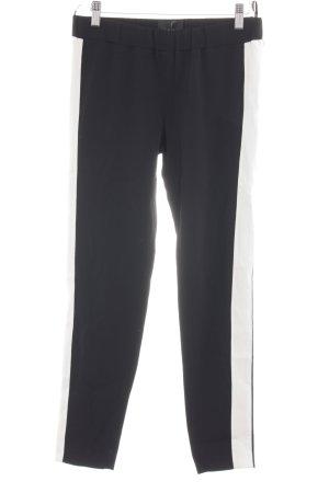 Atos Lombardini Pantalón elástico negro-blanco look casual