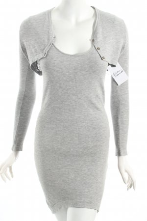 Atos Lombardini Knitted Dress light grey simple style