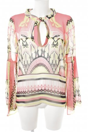 Atos Lombardini Transparante blouse abstract patroon Beach-look