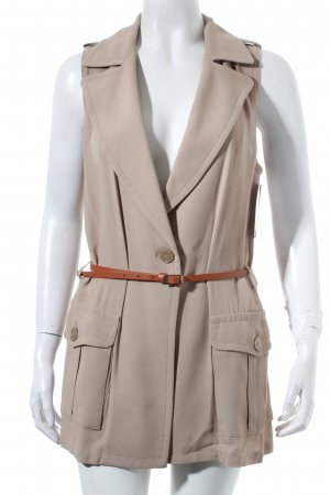 Atos Lombardini Vest light brown elegant