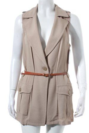 Atos Lombardini Vest light brown elegant