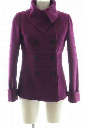 Atos Lombardini Wintermantel lila Business-Look