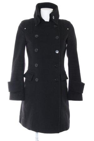 Atos Lombardini Wool Coat black business style