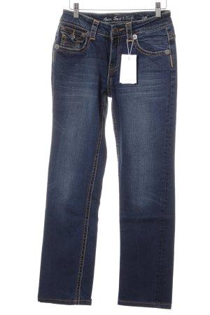 ATT Jeans Boot Cut spijkerbroek donkerblauw casual uitstraling