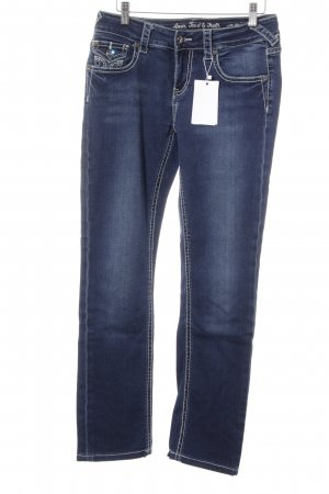 ATT Jeans Low Rise jeans donkerblauw casual uitstraling