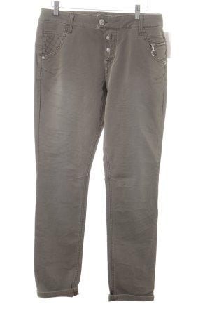 ATT Jeans Slim Jeans grüngrau Steppmuster Street-Fashion-Look
